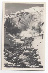 RPPC France L'Hiver a Valloire Alps Boros de la Valloirette