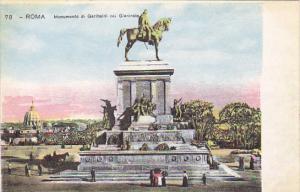 Italy Roma Rome Monumento di Garibaldi nei Giancola