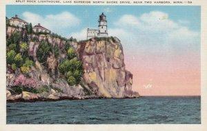 TWO HARBORS, Minnesota, 1940; Split Rock Lighthouse, Lake Superior North Shor...