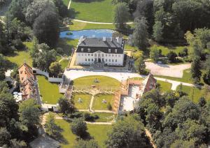 Germany Pueckler Park Branitz Schloss Aerial view Castle