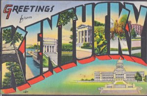 GREETINGS FROM KENTUCKY 1930/40s