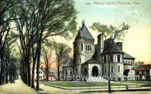 Millicent Library Fairhaven MA Unused