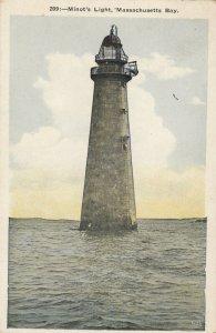 Minot's Ledge Lighthouse, BOSTON , Massachusetts , 00-10s Ver-2