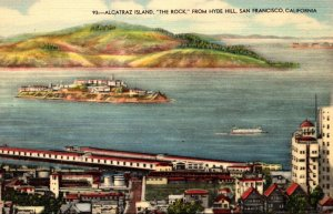 California San Francisco Alcatraz Island The Rock From Hyde Hill