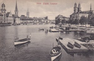ZURICH , Limmat , Switzerland, 1900-10s