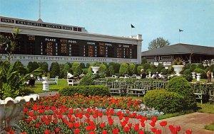 Louisville, KY, USA Clubhouse Garden, Churchill Downs Horse Racing Postcard u...