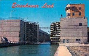 New York City~Eisenhower Lock~1950s Postcard
