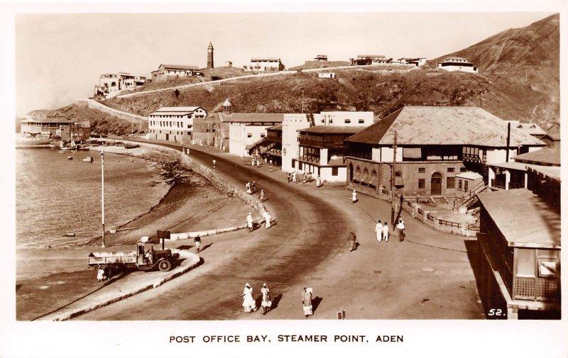 Post Office Bay Steamer Point Aden Yemen RP RPPC real photo postcard