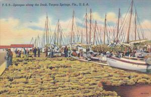 Florida Tarpon Springs Spong Boats and Sponges At The Docks Curteich