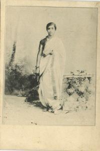 india, Beautiful Native Girl (1899) Clifton & Co. Court Card