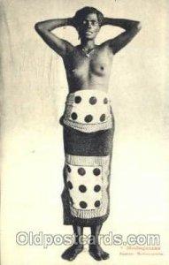 Madagascar Femme Antaimorona African Nude Unused