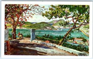 CHARLOTTE AMALIE, St. Thomas Virgin Islands  from BLUE BEARD's CASTLE   Postcard