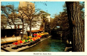 Texas San Antonia View Along San Antonio River 1981
