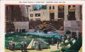 New York City Flower Festival In Sunken Plaza Rockefeller Center 1939