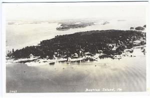 Bustin's Island ME Aerial View Real Photo RPPC Postcard