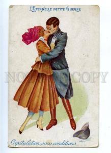 176249 WWI Propaganda KISS by SAGER Vintage ART NOUVEAU PC