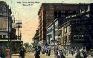 Busy Corner Utica NY 1914