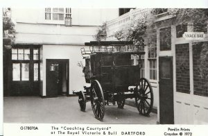 Kent Postcard - Coaching Courtyard at Royal Victoria & Bull, Dartford  A6189