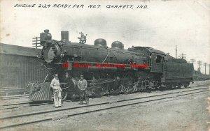 IN, Garrett, Indiana, Railroad Train Engine 2129, 1912 PM, Auburn Post Card Co