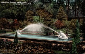 New York Saratoga Springs Canfields Grounds and Gardens 1908