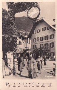 St Wolfgang Mozard Musical Note Song Antique Austria Postcard