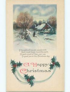 Divided-Back CHRISTMAS SCENE Great Postcard AA0351