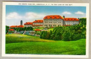 Grove Park Inn, Asheville, North Carolina unused linen Postcard