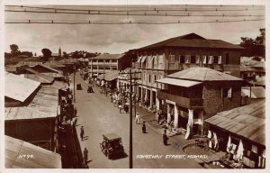 Ghana Gold Coast Kumasi Kingsway Street car auto real photo Postcard