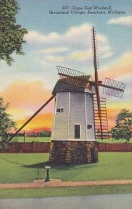Cape Cod Windmill, Greenfield Village, Dearborn, Michigan, 1930-1940s