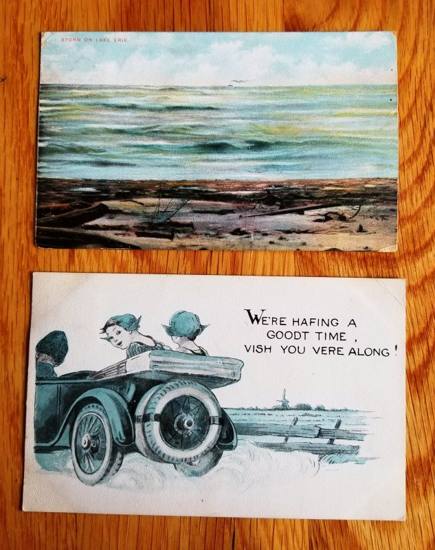 2 Early 1900's R.P.O. Post Cards