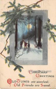 Christmas  Ellen H Clapsaddle Wolf Publishing 1924 crease right edge, postal ...