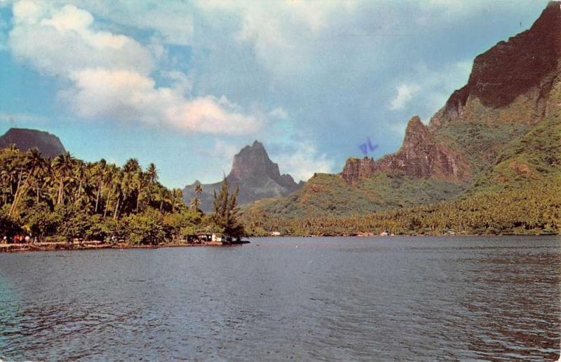 Pao Pao Moorea The Bay Of Cook Scenic View Vintage Postcard K22755