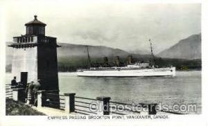 Empress, Vancouver, Canada Steamer Ship Postcard Postcards  Empress, Vancouve...