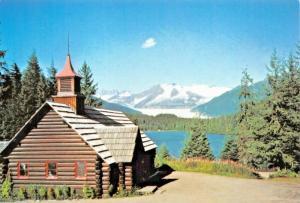 AUKE BAY ALASKA~CHAPEL BY THE LAKE-PRESBYTERIAN CHURCH LOT OF 2 POSTCARDS