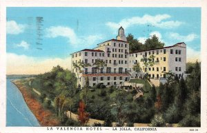 La Valencia Hotel, La Jolla, California, Early Postcard, Used in 1940