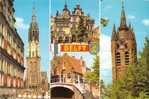B109080 Netherlands Delft Holland Bridge Tower Church Eglise Town hall