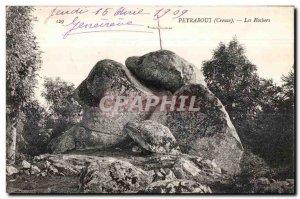 Old Postcard Peyraboui (Creuse) the rocbers