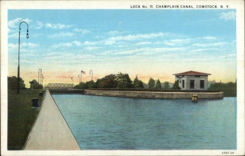 comstock ny champlain canal lock 11 c1920 postcard hippostcard hippostcard
