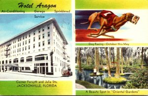 Floorida Jacksonville Hotel Aragon With Oriental Gardens and Dog Racing