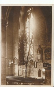 Herefordshire Postcard - Trees in Ross Church - Ref 15844A