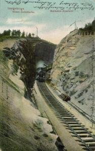 poland, ISERGEBIRGE, Jizera Mountains, Izera Railway Train 1908 Moltkefelstunnel