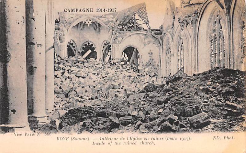 Roye France Interiur de l'Eglise en ruine Roye Interiur de l'Eglise en ruine
