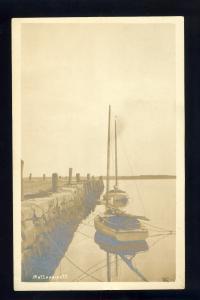 Mattapoisett, Massachusetts/MA/Mass Postcard, Sailboats At Wharf