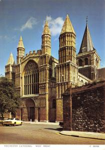 Postcard Rochester Cathedral, West Front, Kent by Judges Ltd L99