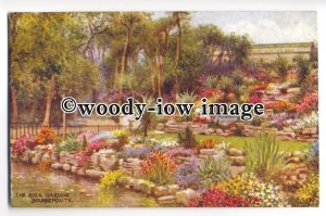 ar0341 - The Rock Gardens at Bournemouth, Artist - W.Carruthers - Postcard