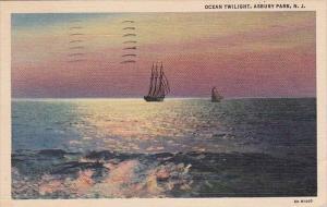 Ocean Twulight Asbury Park New Jersey 1938