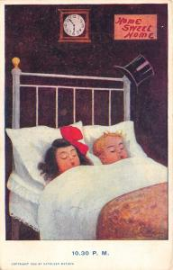 Kathleen Mathew~Day in Boy's Life~10:30 PM~Home Sweet Home~4 Poster Bed~1906 PC