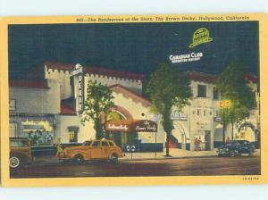 Linen LIQUOR STORE & BROWN DERBY RESTAURANT Hollywood - Los Angeles CA G8521