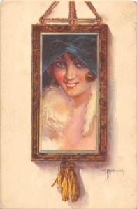 Frame Panel Tableau Woman Lady, G Malugani 1920