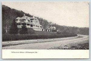 Williamsport Pennsylvania~Huge Stone Mansion~Dirt Curve~Vallamount Drive~c1905
